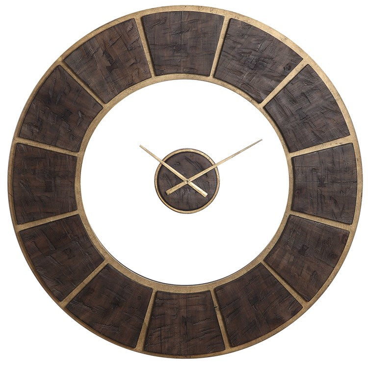 Kerensa Rustic Wooden Wall Clock - taylor ray decor