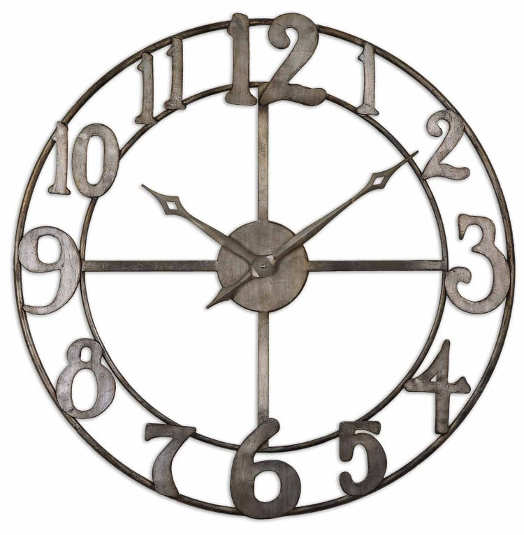 "Delevan 32"" Metal Wall Clock - taylor ray decor"