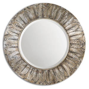 Foliage Round Silver Leaf Mirror - taylor ray decor