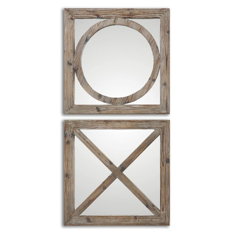 Baci E Abbracci, Wooden Mirrors S/2 - taylor ray decor