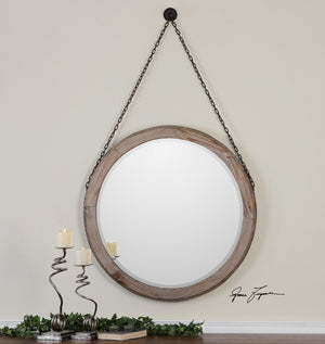 Loughlin Round Wood Mirror - taylor ray decor