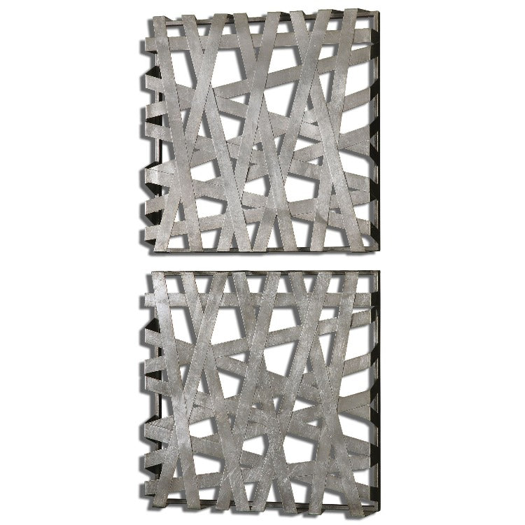 Alita Metal Squares Wall Art, S/2