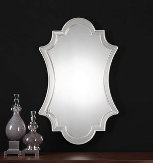 Elara Antiqued Silver Wall Mirror - taylor ray decor