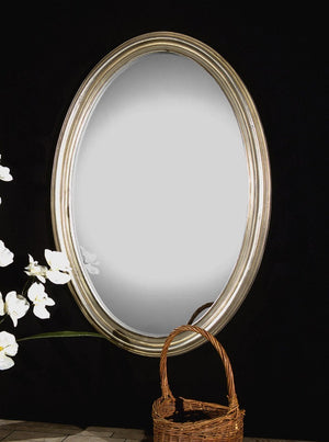 Franklin Oval Silver Mirror - taylor ray decor