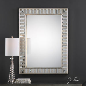 Lanester Silver Leaf Mirror - taylor ray decor