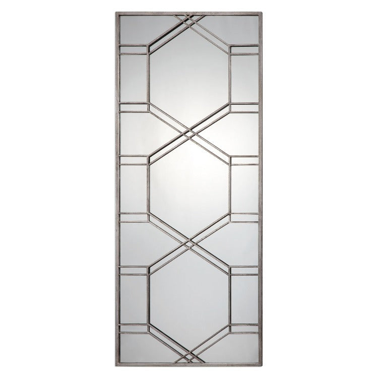 Kennis Silver Leaner Mirror - taylor ray decor