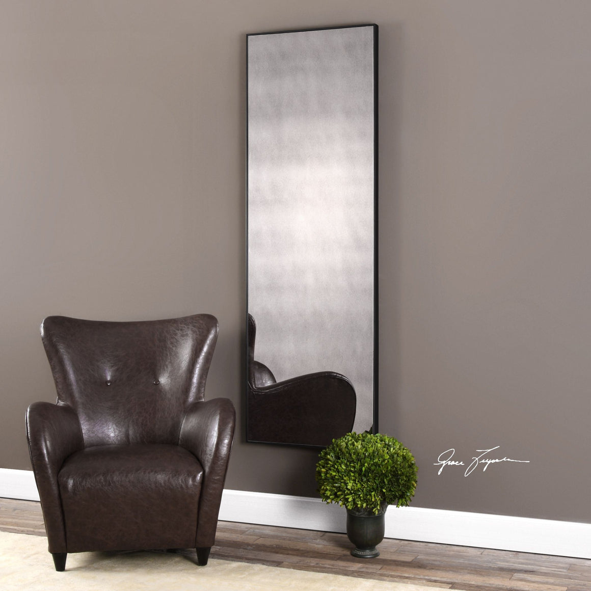 Burwell Oversized Antiqued Mirror - taylor ray decor