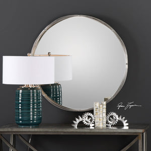 Ohmer Round Metal Coils Mirror - taylor ray decor