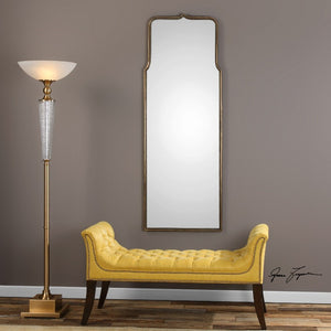 Adelasia Antiqued Gold Mirror - taylor ray decor