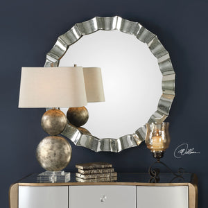 Sabino Scalloped Round Mirror - taylor ray decor