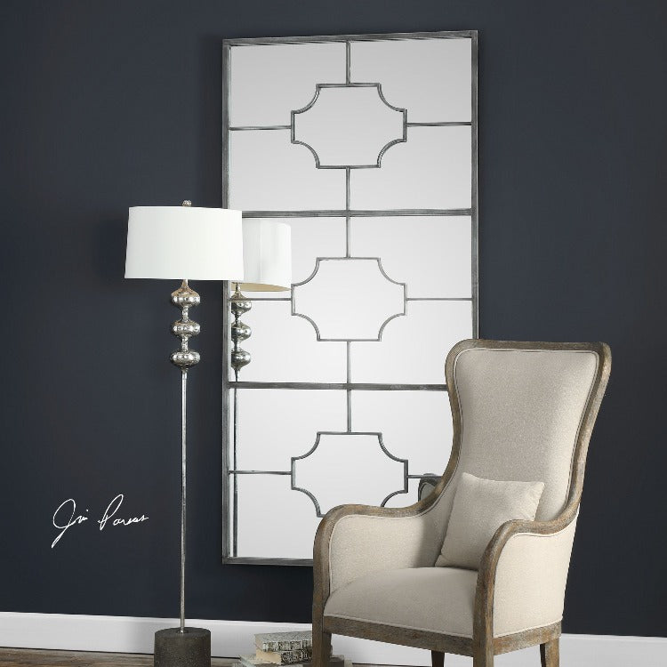 Genell Silver Mirror - taylor ray decor