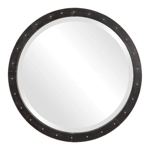 Beldon Cladded Round Mirror - taylor ray decor