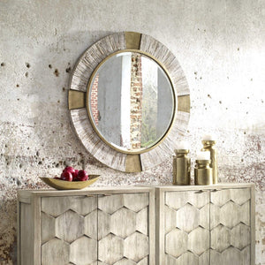 Reuben Gold Round Mirror - taylor ray decor