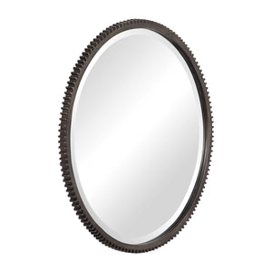 Werner Industrial Round Mirror - taylor ray decor