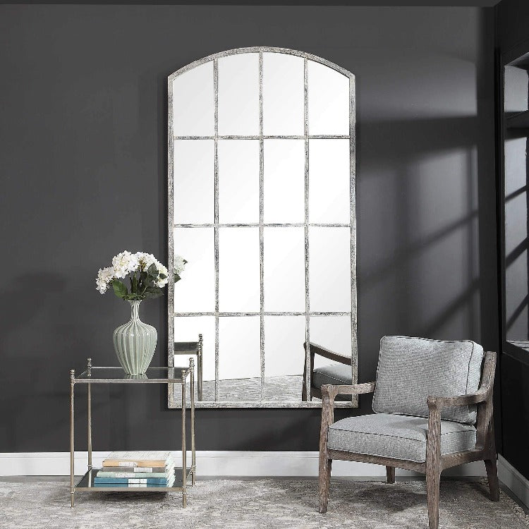 Amiel Ivory Arched Mirror - taylor ray decor