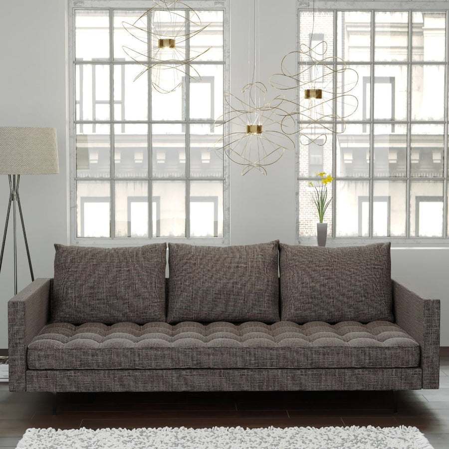 Granville Tweed Upholstered Sofa in Beige Champaign