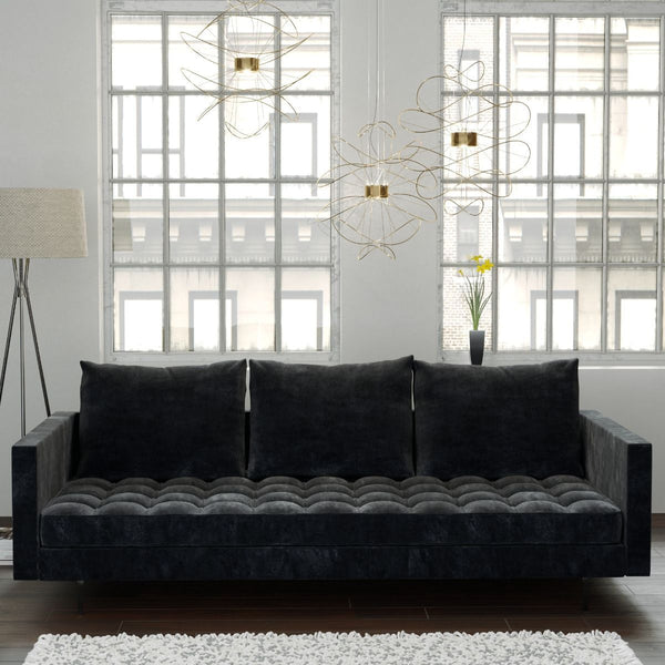 Granville Velvet Sofa in Grey