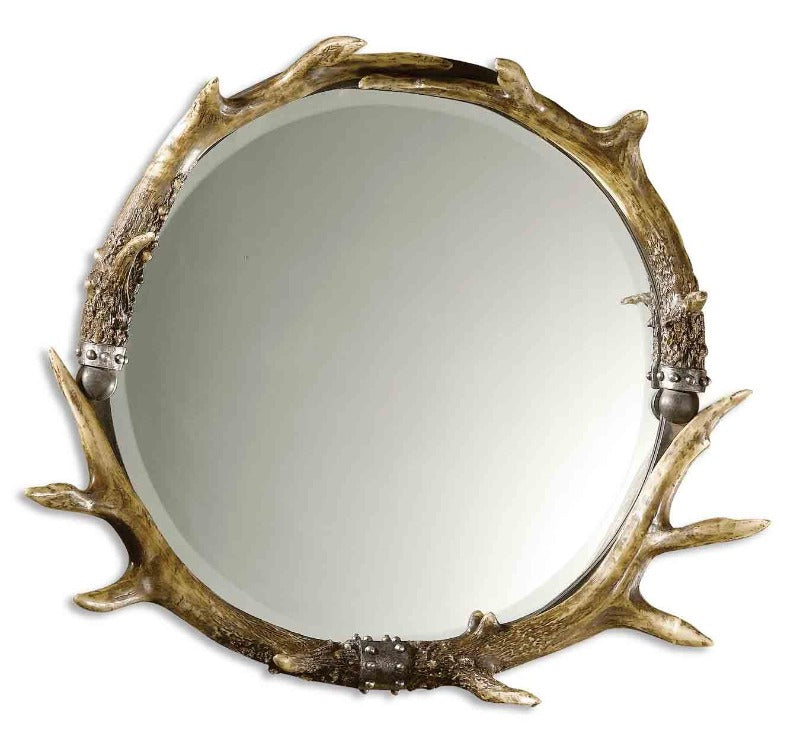 Stag Horn Round Mirror - taylor ray decor