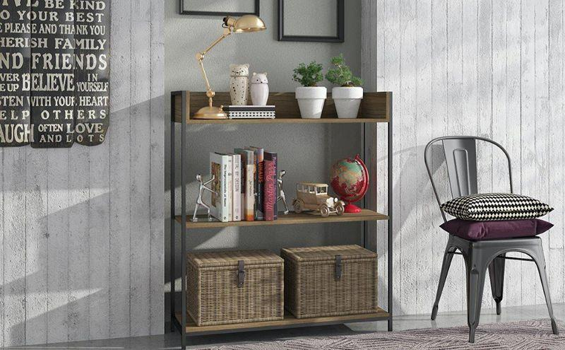 Ellis Modern Industrial Bookcase 2.0