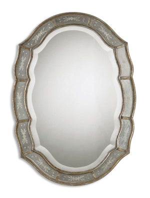 Fifi Etched Antique Gold Mirror - taylor ray decor