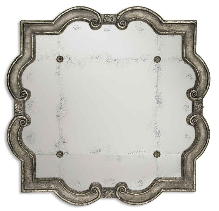 Prisca Distressed Silver Mirror