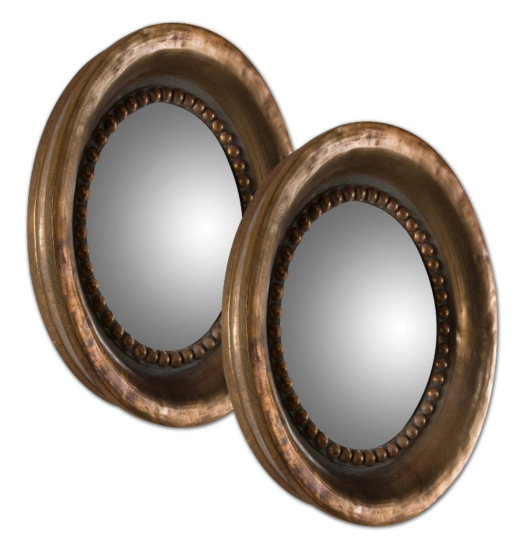 Tropea Rounds Wood Mirror / Set of 2 - taylor ray decor