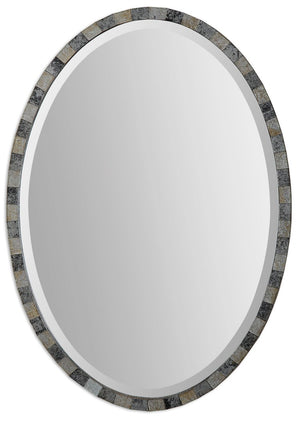Paredes Oval Mosaic Mirror - taylor ray decor