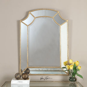 Francoli Gold Arch Mirror - taylor ray decor