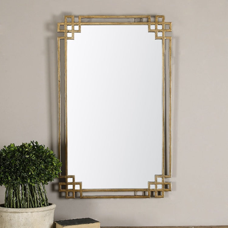 Devoll Antique Gold Mirror - taylor ray decor