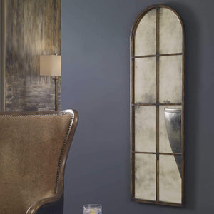 Amiel Arched Brown Mirror - taylor ray decor
