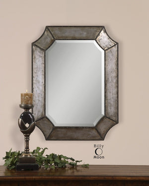 Elliot Distressed Aluminum Mirror - taylor ray decor
