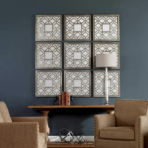 Sorbolo Squares Decorative Mirrors, Multiple Sets Shown