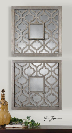 Sorbolo Squares Decorative Mirrors, S/2 - taylor ray decor