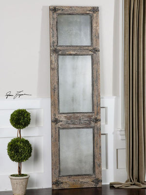 Saragano Distressed Leaner Mirror - taylor ray decor