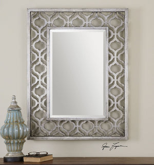 Sorbolo Decorative Silver Mirror