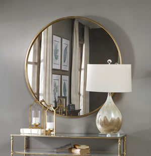 Junius Round Gold Mirror - taylor ray decor