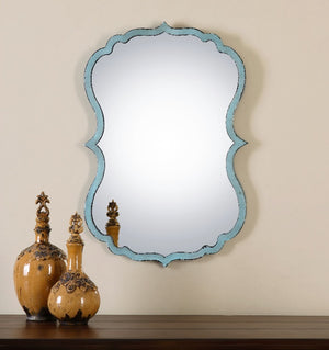 Nicola Light Blue Vanity Mirror - taylor ray decor