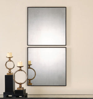 Matty Antiqued Square Mirrors, S/2 - taylor ray decor