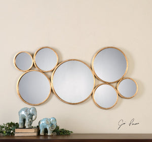 Kanna Gold Wall Mirror