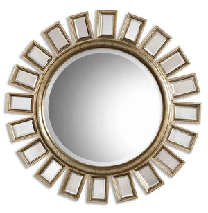 Cyrus Round Silver Mirror - taylor ray decor