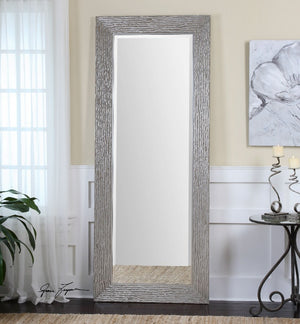 Amadeus Large Silver Leaner Mirror - taylor ray decor