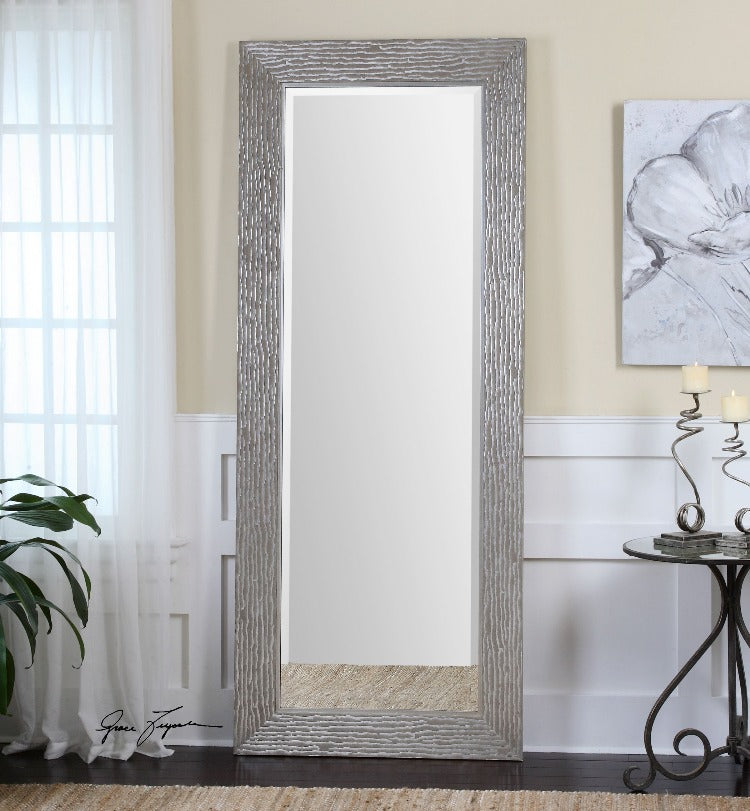 Amadeus Large Silver Leaner Mirror