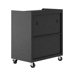 Fortress 3-Piece Mobile Space-Saving Garage Storage & Work Table
