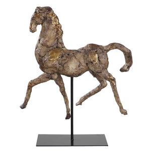 Caballo Dorado Horse Sculpture - taylor ray decor