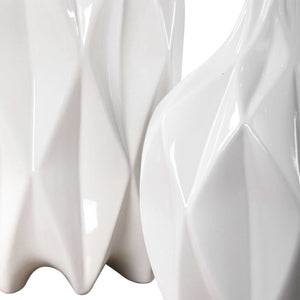 Klara White Bottles, S/2 - taylor ray decor