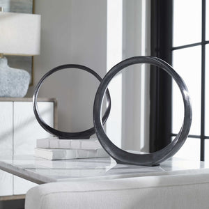 Orbits Aluminum Ring Sculptures, S/2 - taylor ray decor