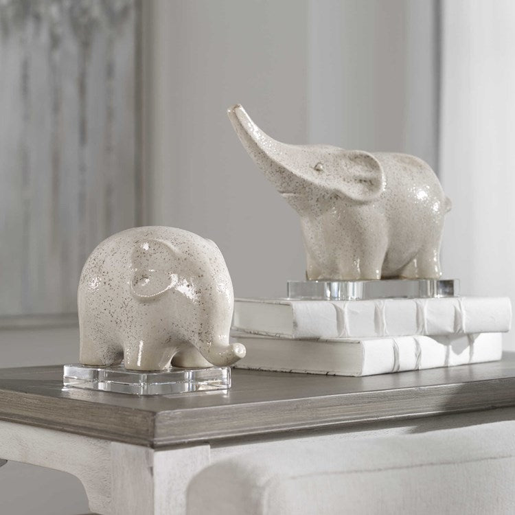 Kyan Elephant Sculptures, S/2 - taylor ray decor