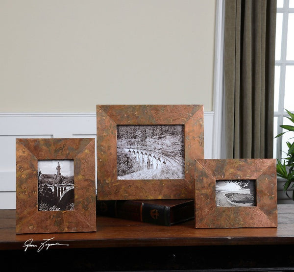 Ambrosia Copper Photo Frames S/3