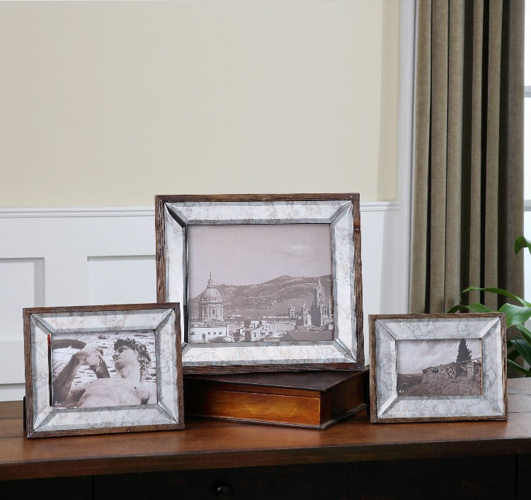 Daria Antique Mirror Photo Frames S/3 - taylor ray decor