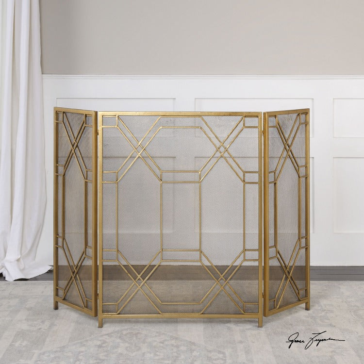 Rosen Gold Fireplace Screen